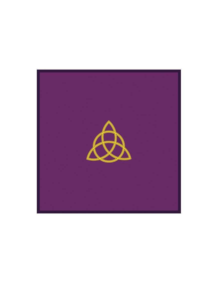 Tapis violet 80 x 80 cm triquetra