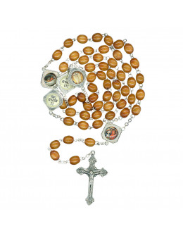 Chapelet bois du rosaire lumineux