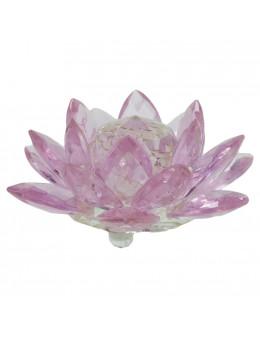 Lotus en cristal Swaroski rose