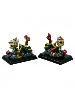 Lot de deux Dragons feng shui