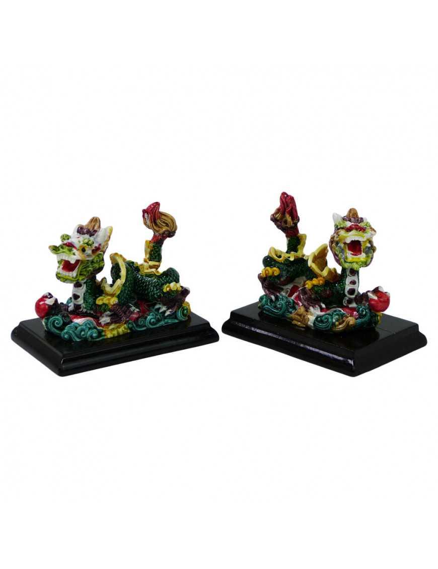Lot de deux Dragons feng shui