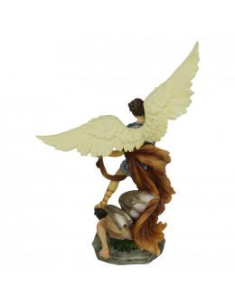 Statue résine pleine Saint Michel 30cm