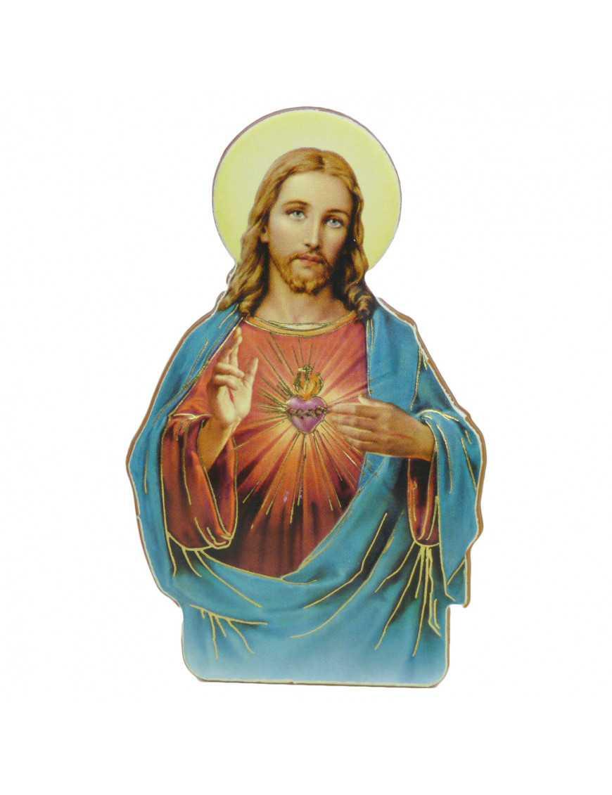 Magnet bois 2D Sacré Coeur de Jésus