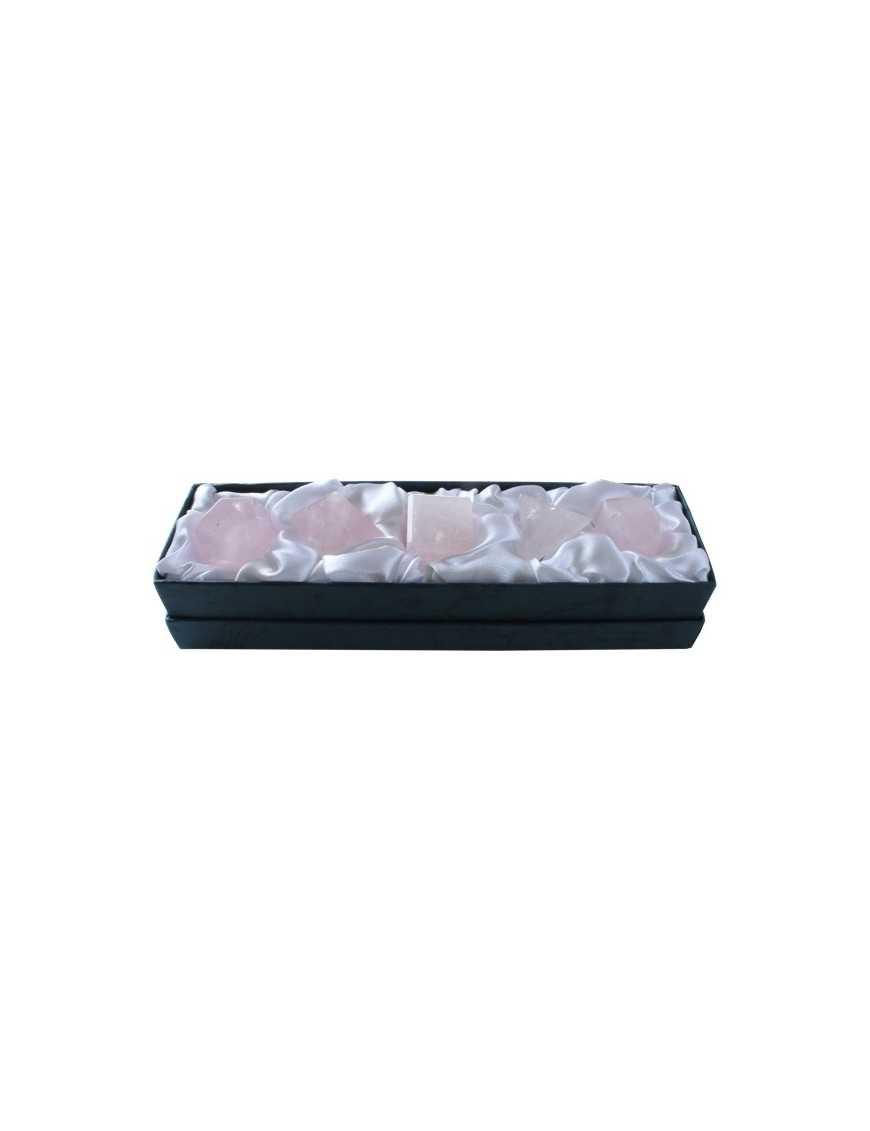 Solides de platon quartz rose