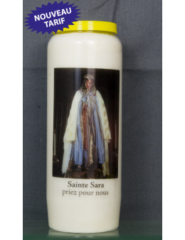 Bougie de neuvaine Ste Sara + prière