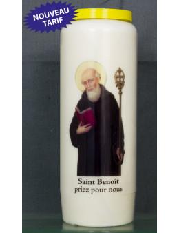 Bougie de neuvaine St Benoit + prière
