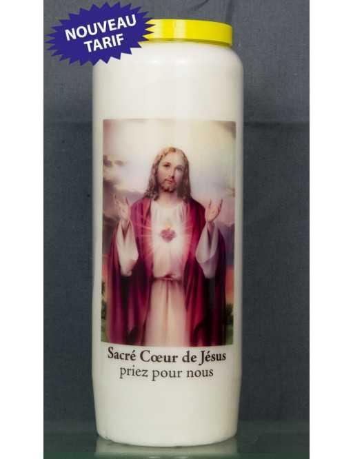 Bougie de neuvaine SC Jésus + prière