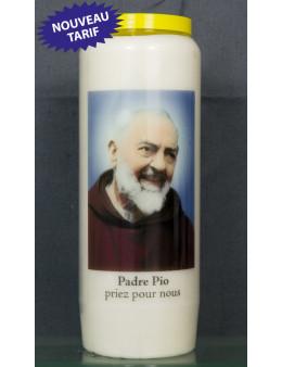 Bougie de neuvaine Padré Pio + prière