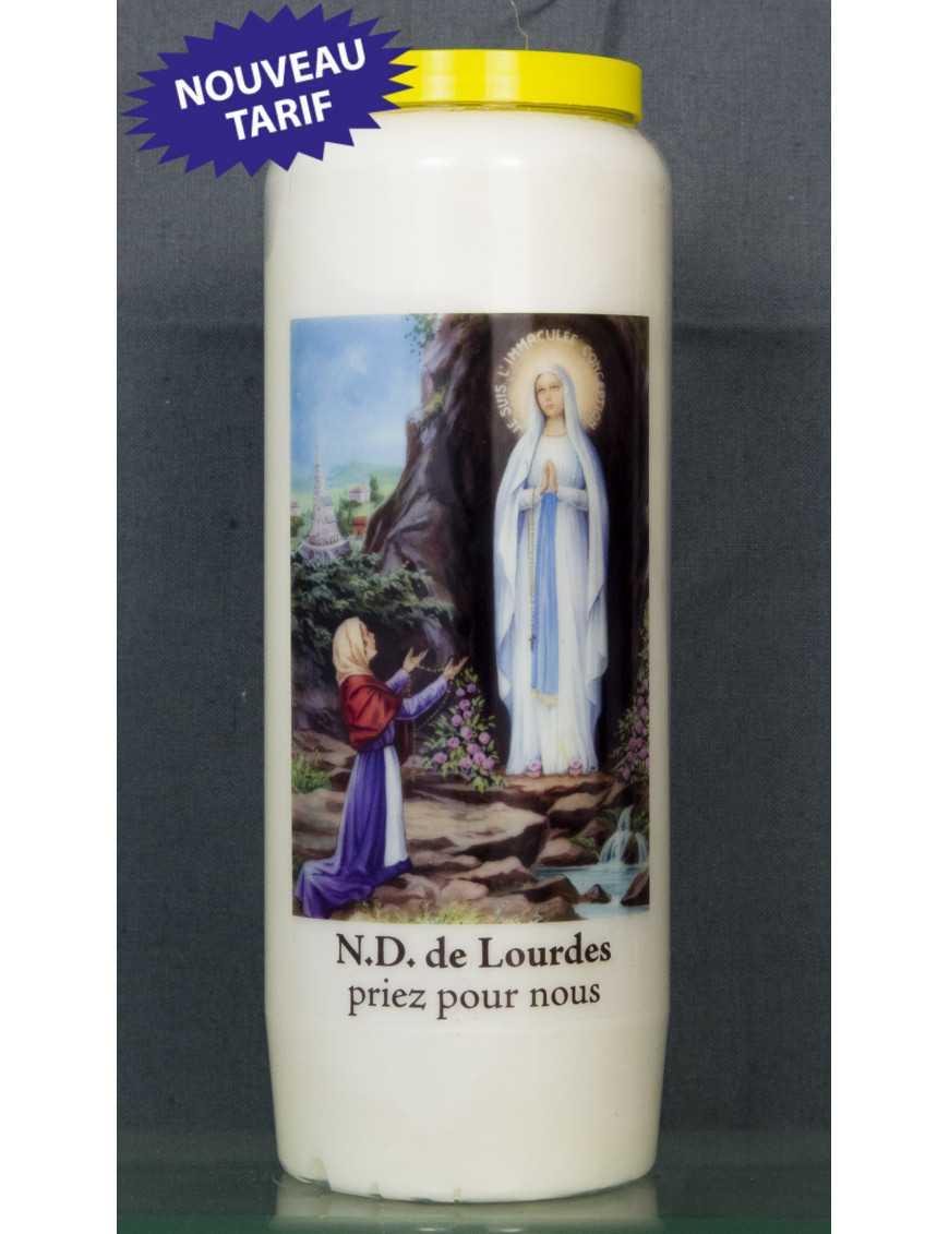 Bougie de neuvaine ND Lourdes + prière