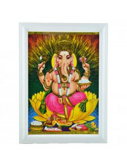 Poster Ganesha A4 avec cadre
