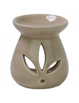 Brûle parfum céramique H. 8cm diam 7cm couleur : Blanc