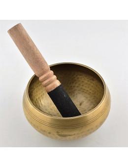 Bol chantant tibétain de qualité supérieure de diamètre 13 cm avec baton