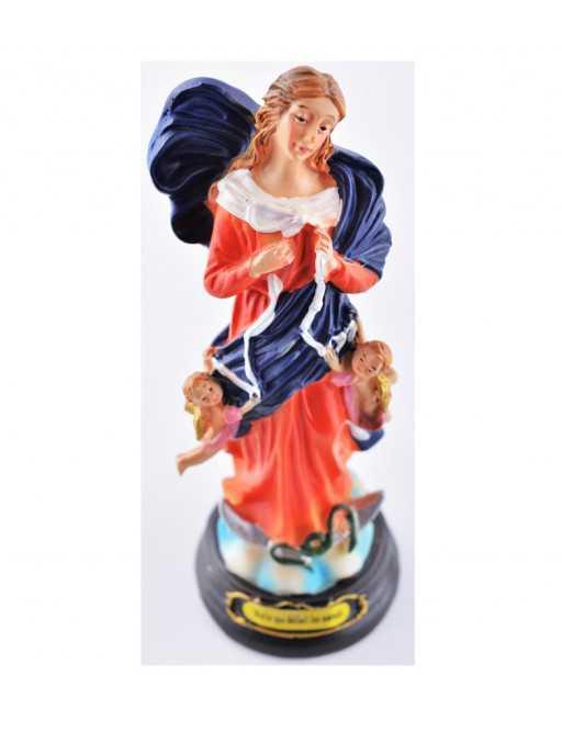 Statue résine peinte à la main Marie qui défait les noeuds