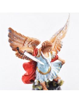 Statue résine peinte à la main St Michel