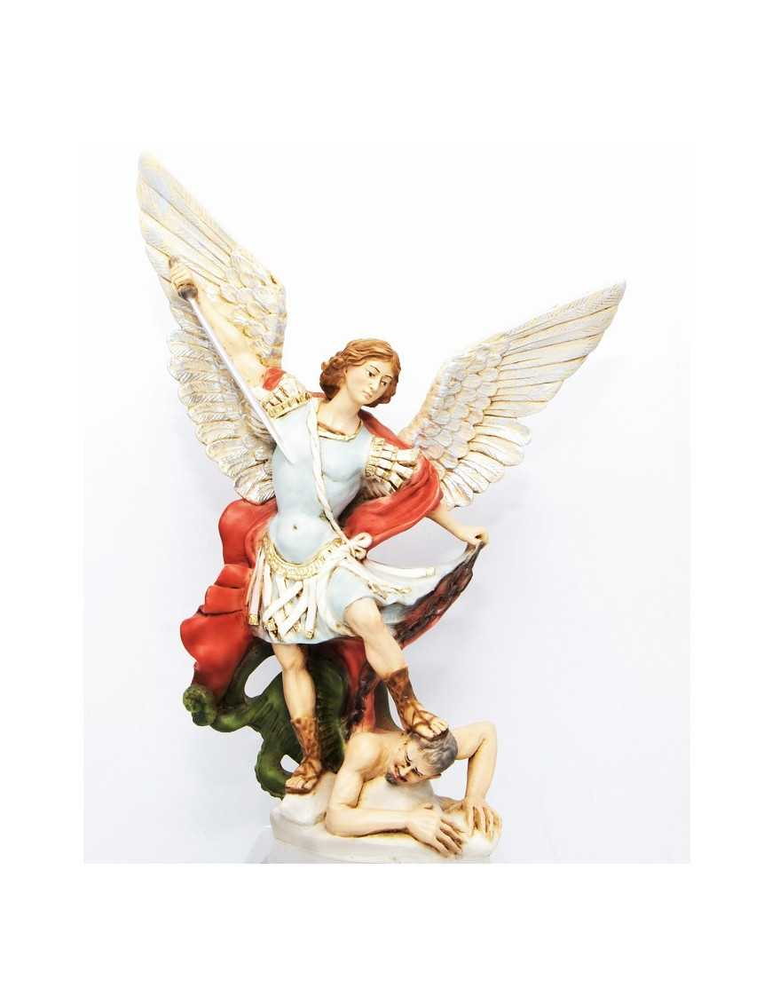 Statue St Michel - résine peinte 20 cm