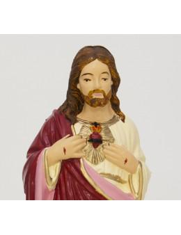 Statue Sacré Coeur de Jésus - résine peinte