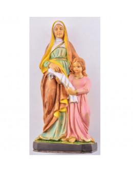 Statue résine peinte Sainte Anne