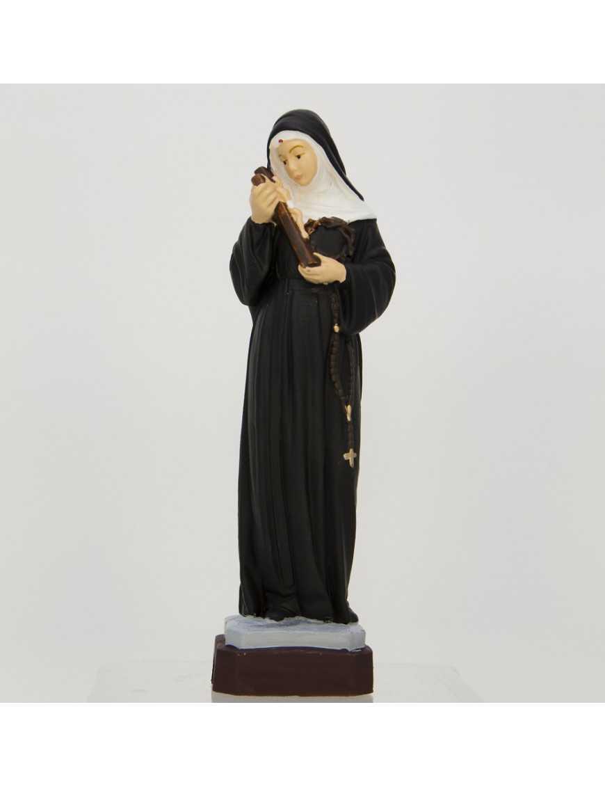 Statue Sainte Rita - résine peinte 20 cm