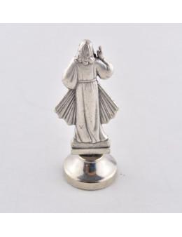 Statue métal Christ Miséricordieux - Socle Adhésif - 5,5 cm