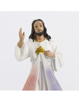 Statue résine peinte à la main Christ Miséricordieux