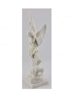 Statue Saint Michel en résine blanche 23 cm