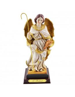 Statue Saint Raphael en résine 24 cm