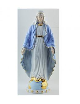 Statue Vierge Miraculeuse en porcelaine 25 cm