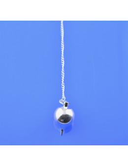 Pendule métal goutte avec chaîne 3 cm
