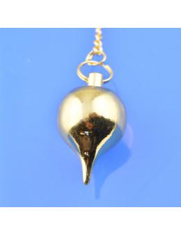 Pendule métal goutte - 3 cm - argenté / doré