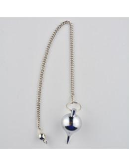 Pendule métal goutte avec chaîne 2,5 cm