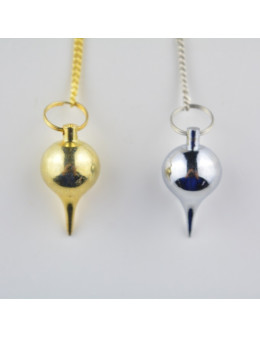 Pendule métal goutte - 2,5 cm - argenté / doré