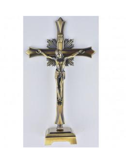 Crucifix bronze moderne 18 cm