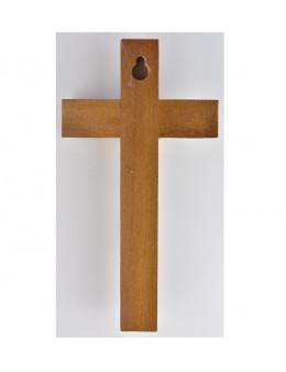 Croix en bois 17 cm et Christ métallique