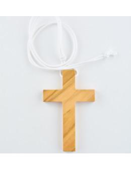 Croix en bois d'olivier 7,5 cm avec cordon - Croix de communion