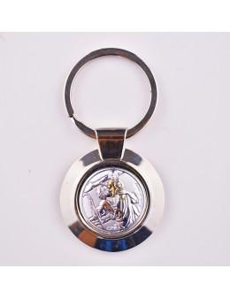 Porte-clés Saint Christophe métallique