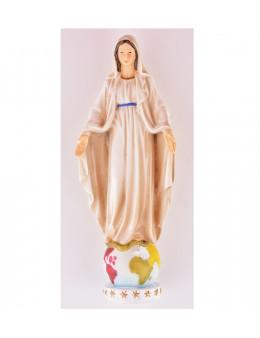 Statue Vierge Miraculeuse sur globe en résine