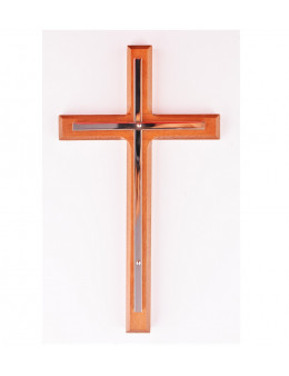 Croix en bois avec croix cuivre sans Christ