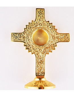 Croix reliquaire en bronze