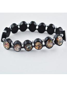 Bracelet en bois noir - Chemin de croix