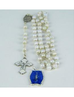 Chapelet chaînette avec croix et médaille émaillées