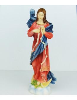 Statue résine pleine Marie qui défait les noeœuds 30cm
