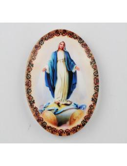 Magnet Vierge Miraculeuse ovale en verre