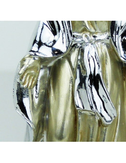 Statue argentée Vierge Miraculeuse 11 cm