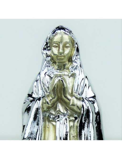 Statue argentée Notre-Dame de Lourdes 11 cm