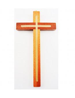 Croix bois avec intérieur phosphorescent lumineux