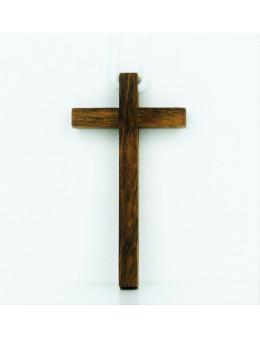 Croix en bois avec cordon de 1m