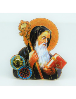 Magnet en bois images saintes 7 cm