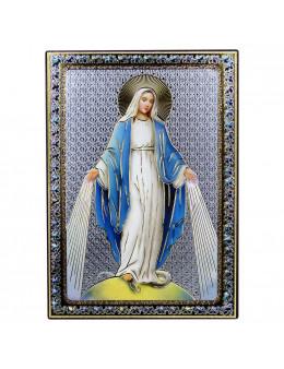 Image sur bois Vierge Miraculeuse 14x10