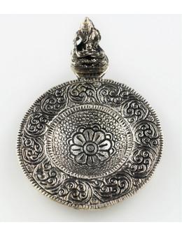Brûle-encens Bouddha en métal rond