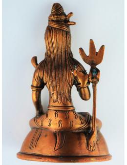 Statue cuivre rouge divinités hindou - 13,5 cm